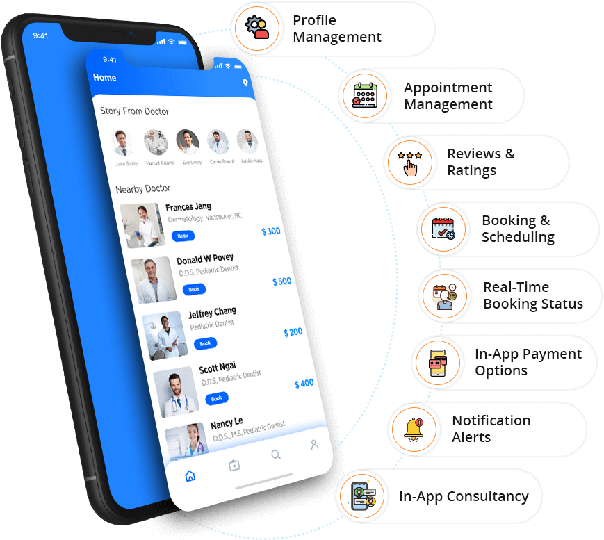 Patient App Features - Appointment Booking