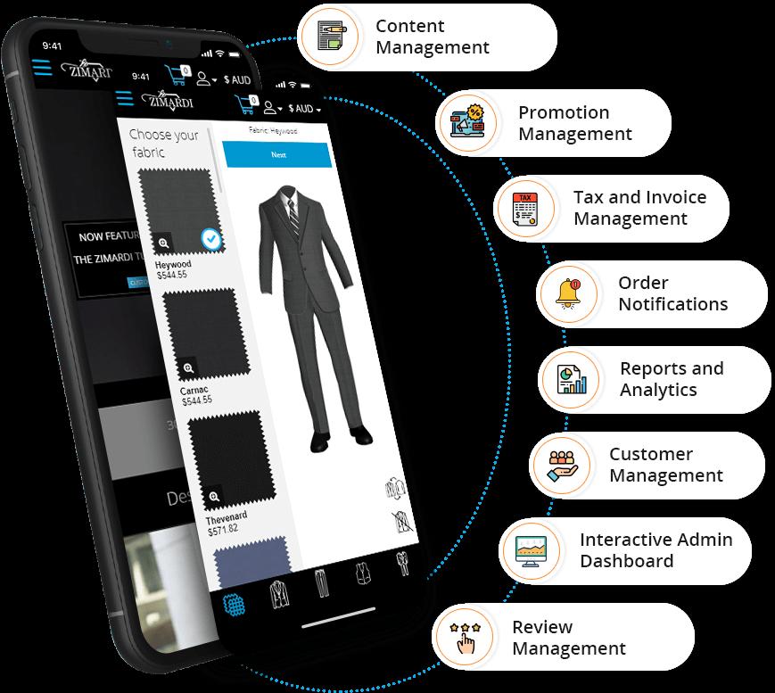 Admin App Features - eTailoring App
