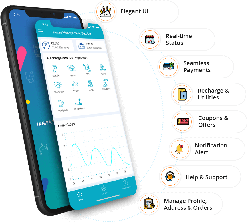 User App Features - eRecharge App