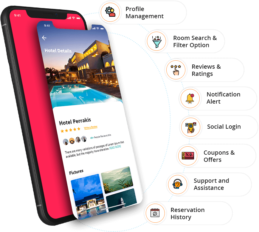 User App Features - Room Booking App