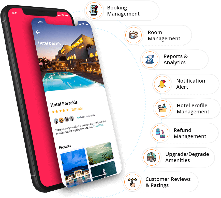 Vendor App Features - Room Booking App