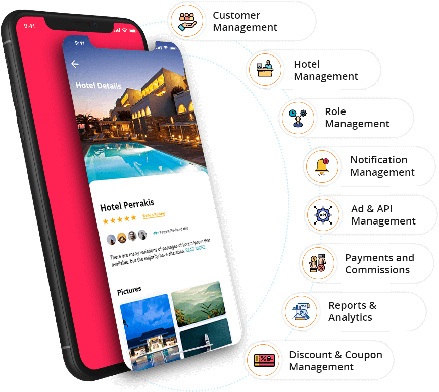 Admin App Features - Room Booking App